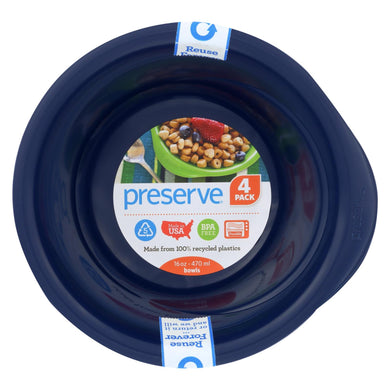 Preserve Everyday Bowls - Midnight Blue - 4 Pack - 16 oz