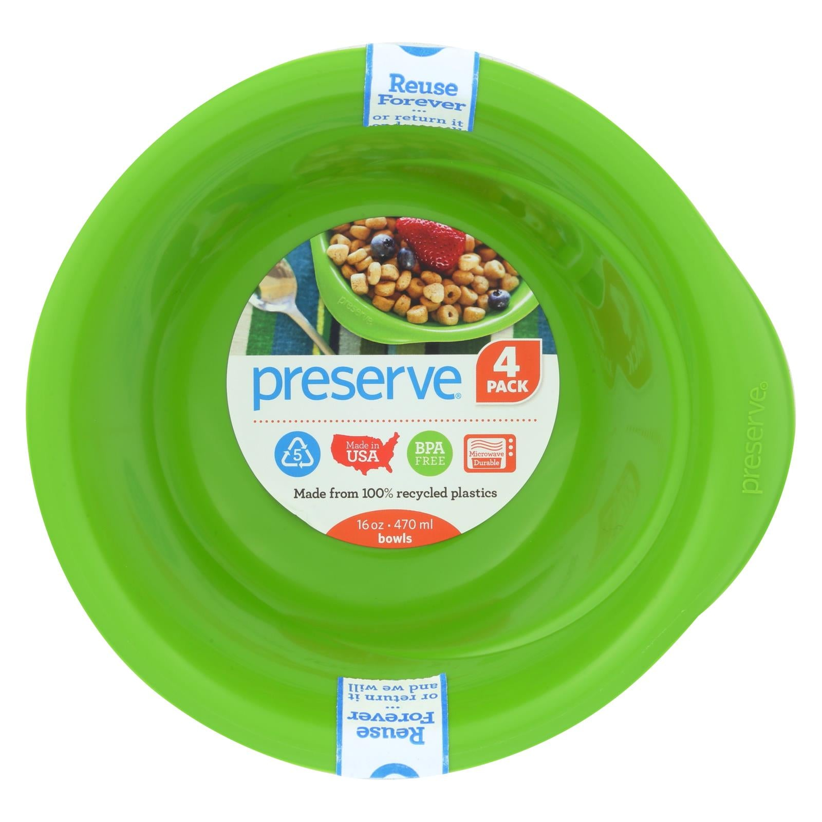 Buy Preserve Everyday Bowls - Apple Green - 4 Pack - 16 oz - Tableware from Veroeco.com