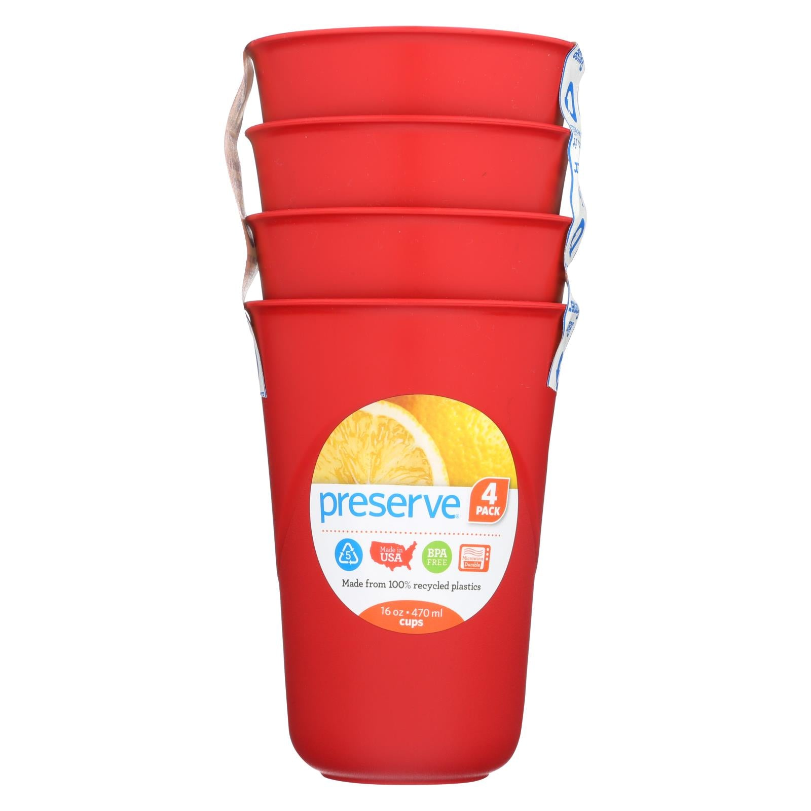 Buy Preserve Everyday Cups - Pepper Red - 4 Packs - Tableware from Veroeco.com