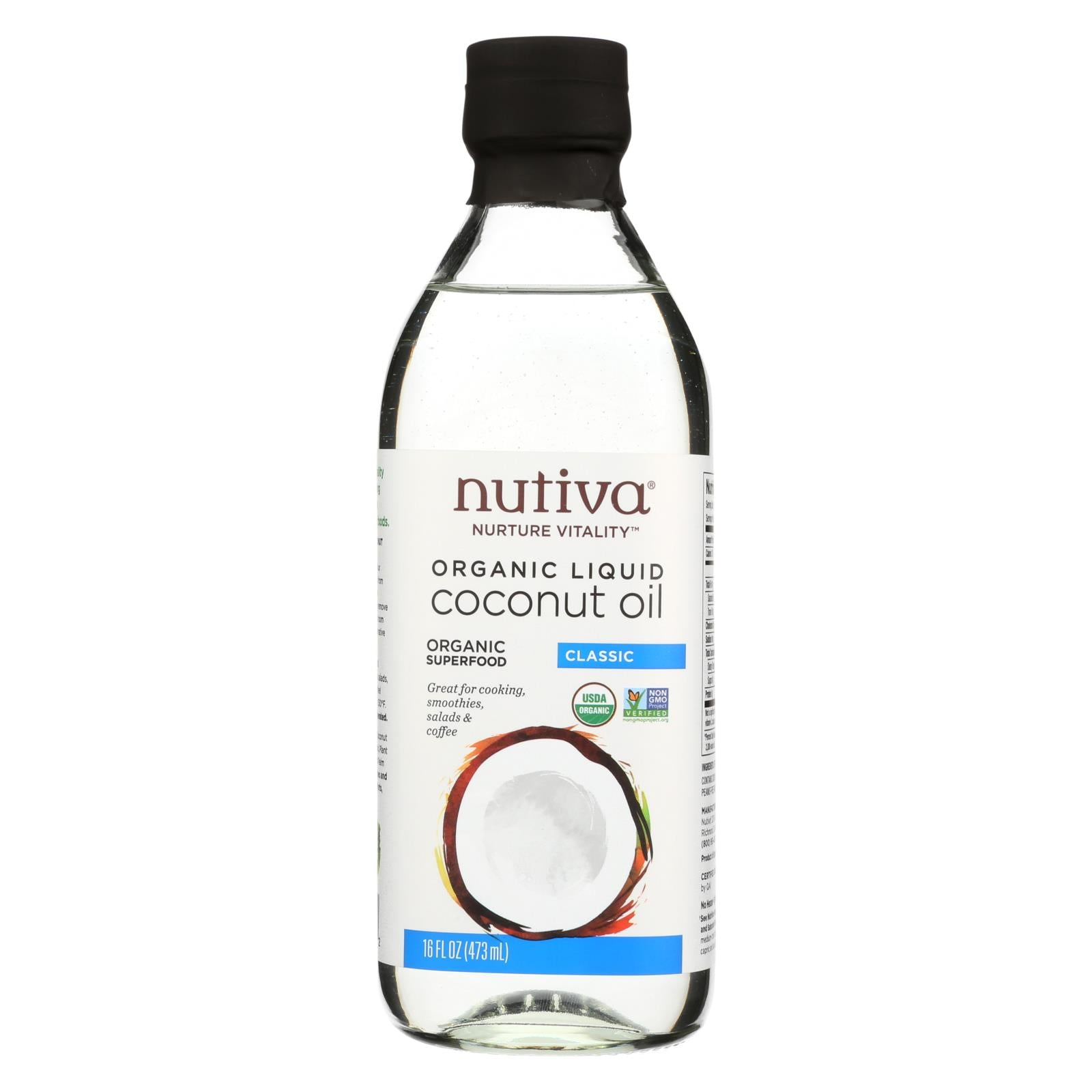 Buy Nutiva 100% Organic Coconut Oil - Classic - Case of 6 - 16 fl oz - Cooking Oils from Veroeco.com