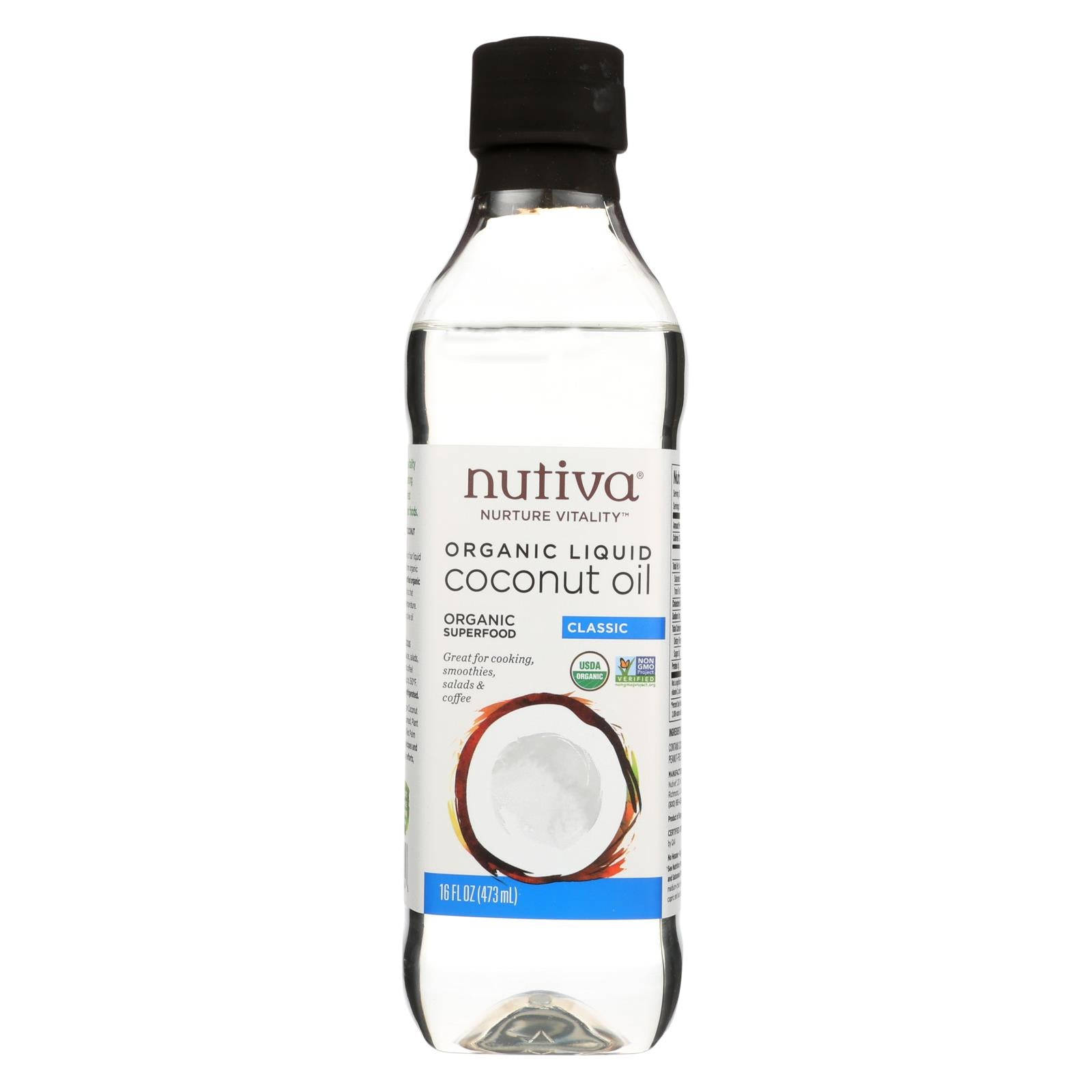 Buy Nutiva Oil - Organic - Liquid Coconut - Case of 6 - 16 fl oz - Cooking Oils from Veroeco.com