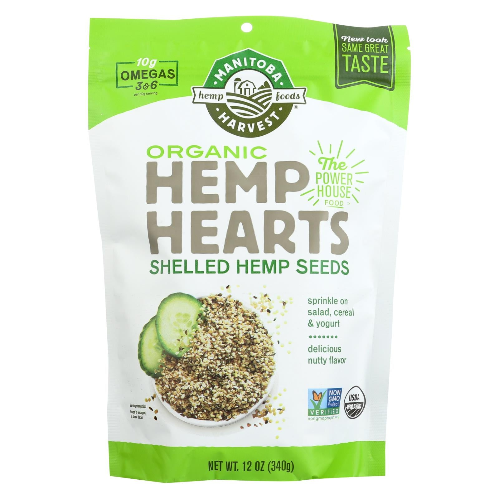 Buy Manitoba Harvest Certified Organic Hemp Hearts Shelled Hemp Seed- Case of 6 - 12 oz - Fibers and Seeds from Veroeco.com