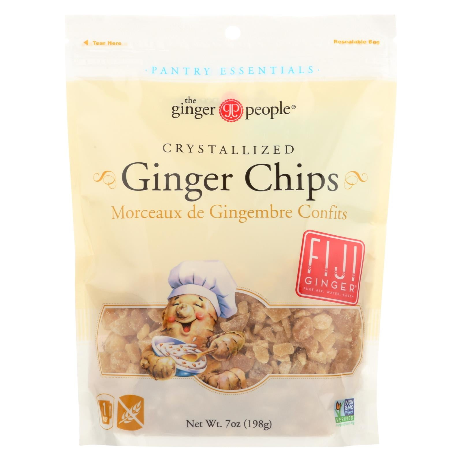 Buy Ginger People Crystallized Ginger Chips - Bakers Cut - 7 oz - Case of 12 - Baking and Cake Decorating from Veroeco.com