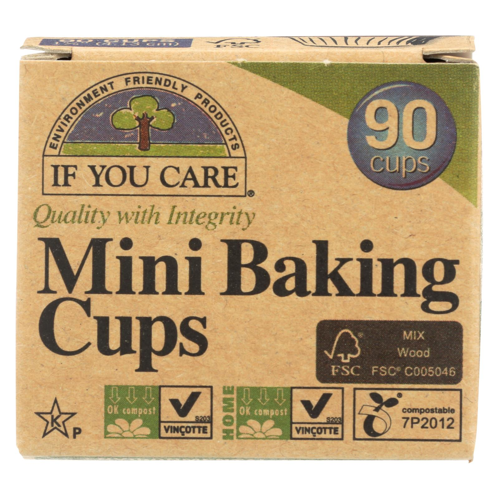 Buy If You Care Baking Cups - Mini - Unbleached Totally Chlorine Free - 90 Count - Baking and Cake Decorating from Veroeco.com