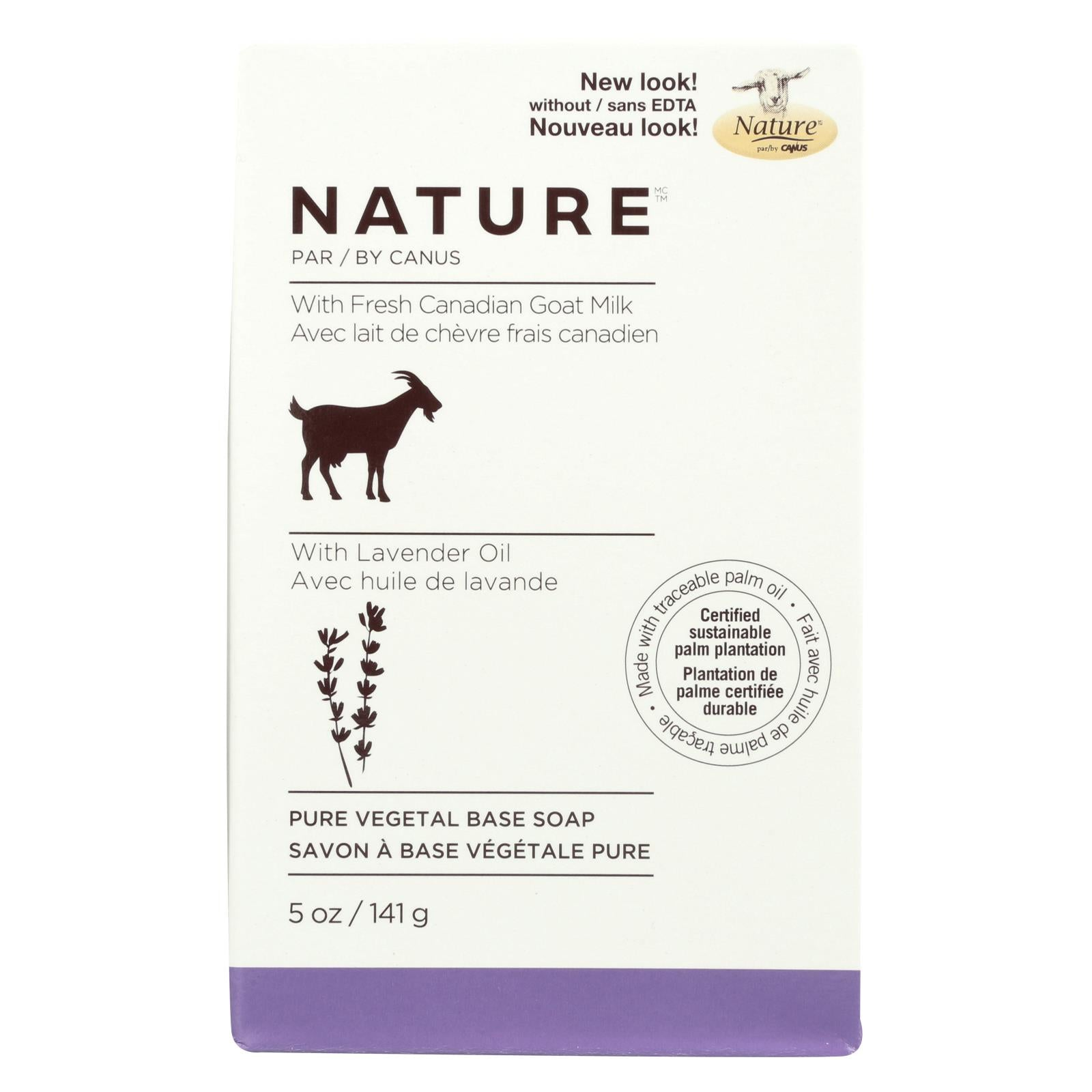 Buy Nature By Canus Bar Soap - Goats Milk - Lavender Oil - 5 oz - Bar Soap from Veroeco.com