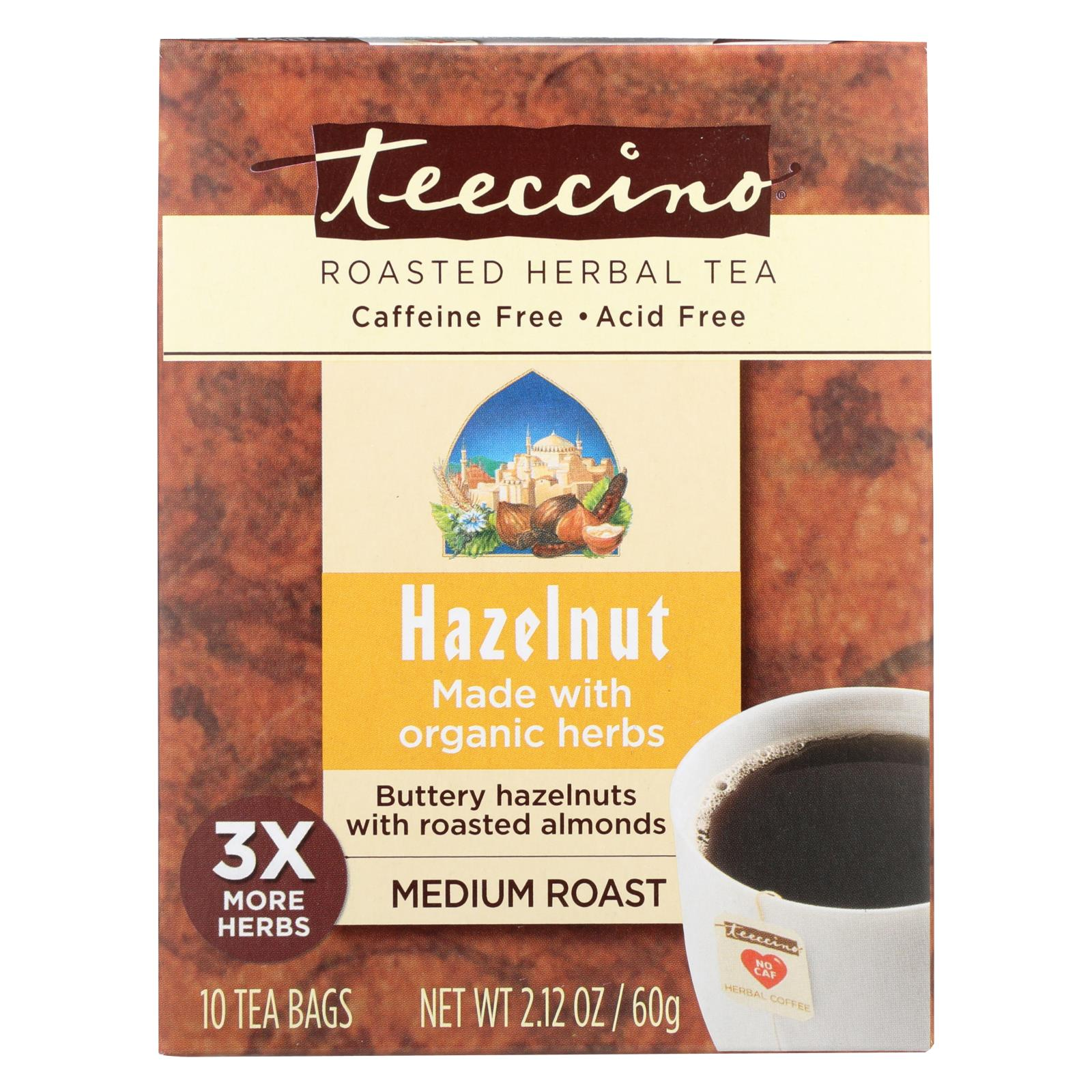 Buy Teeccino Herbal Coffee Hazelnut - 10 Tea Bags - Case of 6 - Beverages from Veroeco.com