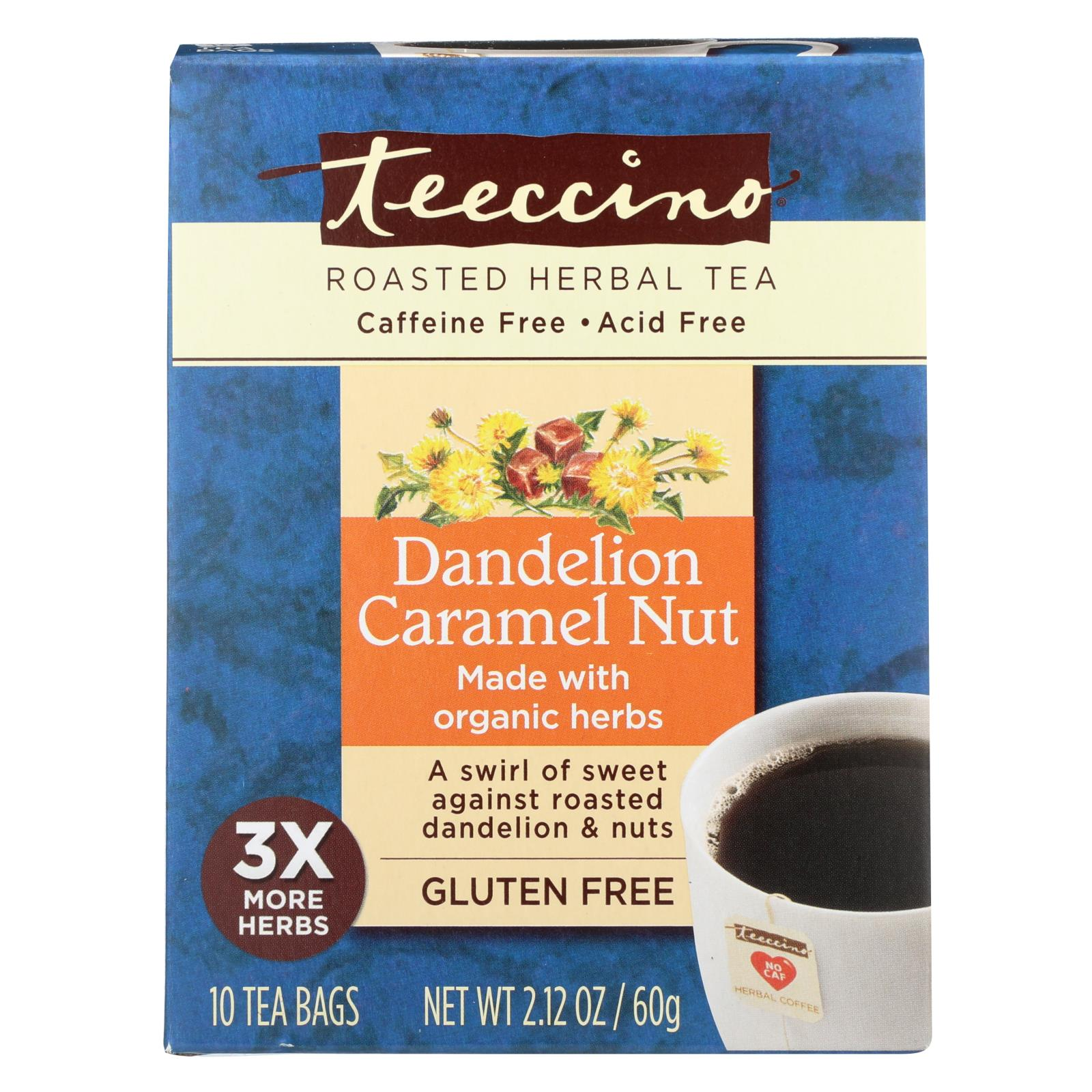 Buy Teeccino Coffee Tee Bags - Organic - Dandelion Caramel Nut Herbal - 10 Bags - Beverages from Veroeco.com