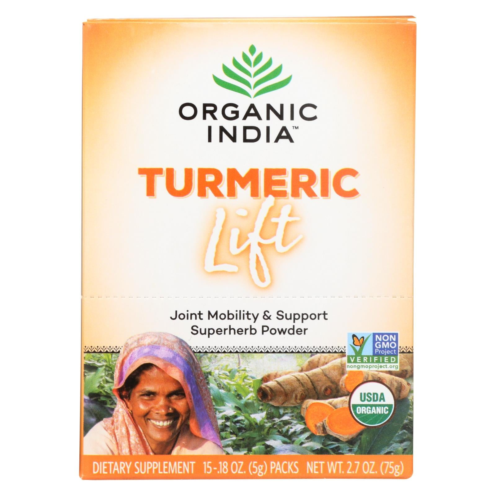 Buy Organic India Lift Box - Turmeric - 15 count - Salt, Spices and Seasonings from Veroeco.com