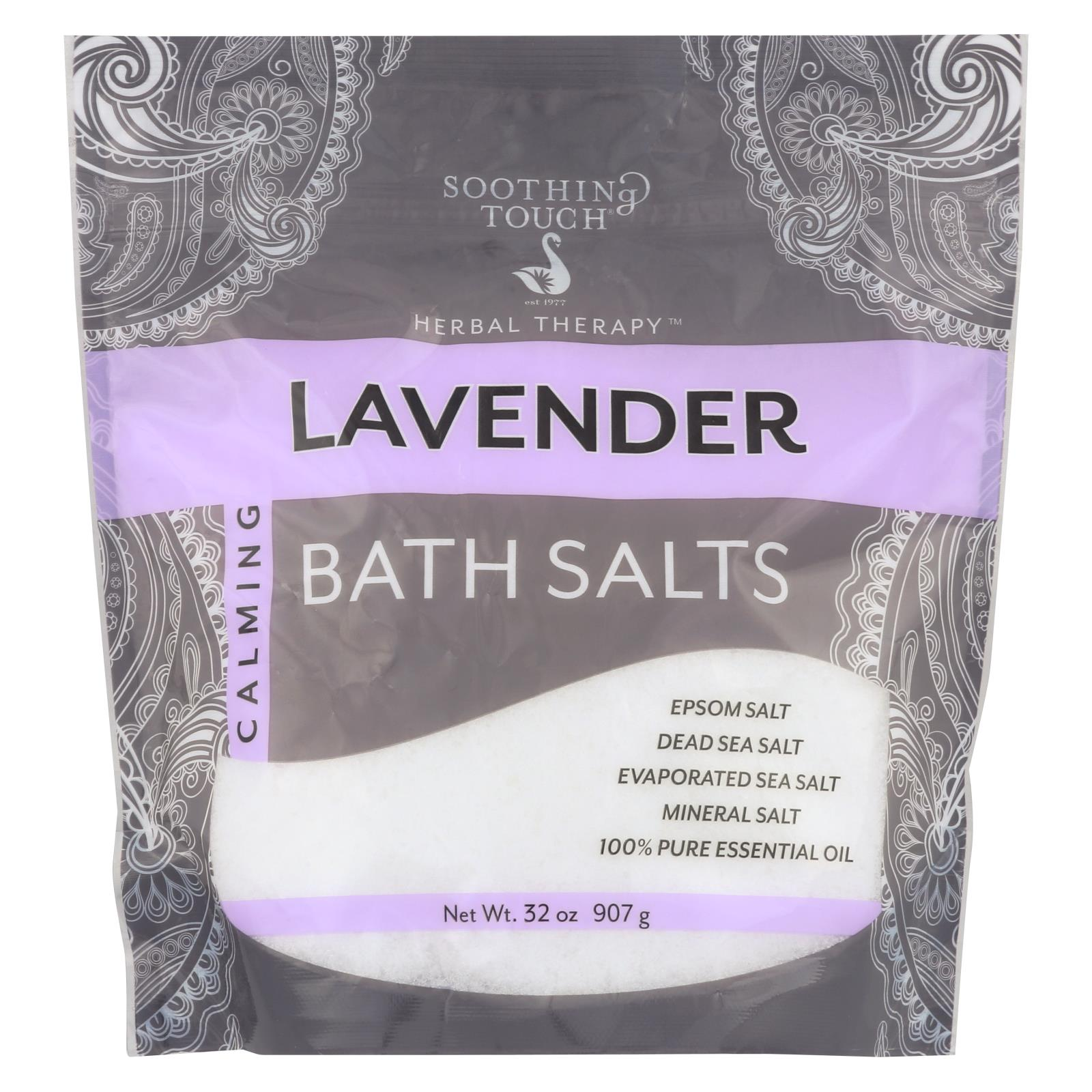 Buy Soothing Touch Bath Salts - Lavender Calming - 32 oz - Bubble Bath and Soaks from Veroeco.com