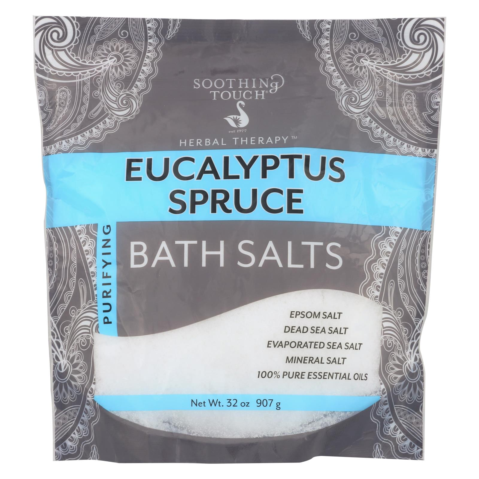 Buy Soothing Touch Bath Salts - Eucalyptus Spruce - 32 oz - Bubble Bath and Soaks from Veroeco.com