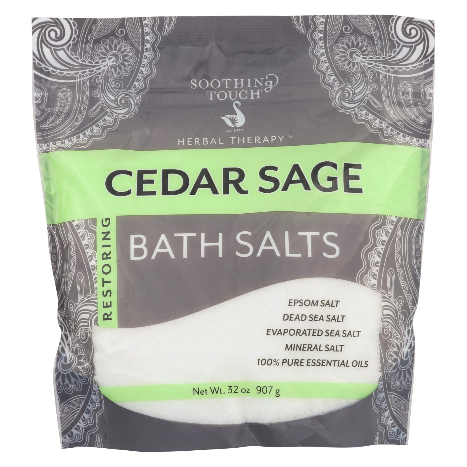 Buy Soothing Touch Bath Salts - Cedar Sage - 32 oz - Bubble Bath and Soaks from Veroeco.com