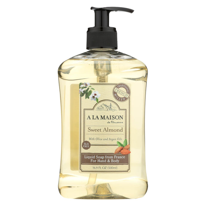 A La Maison French Liquid Soap - Sweet Almond - 16.9 fl oz