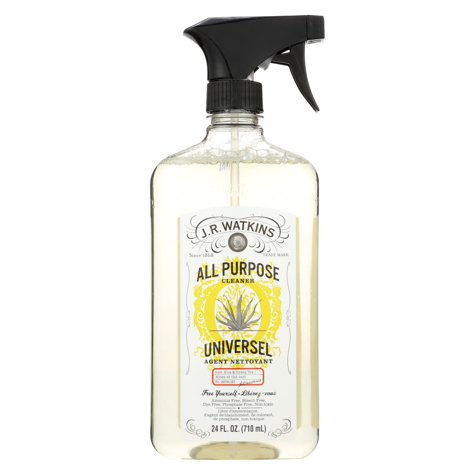 Buy J.R. Watkins Natural All Purpose Cleaner Aloe And Green Tea - 24 fl oz - Household Cleaners from Veroeco.com