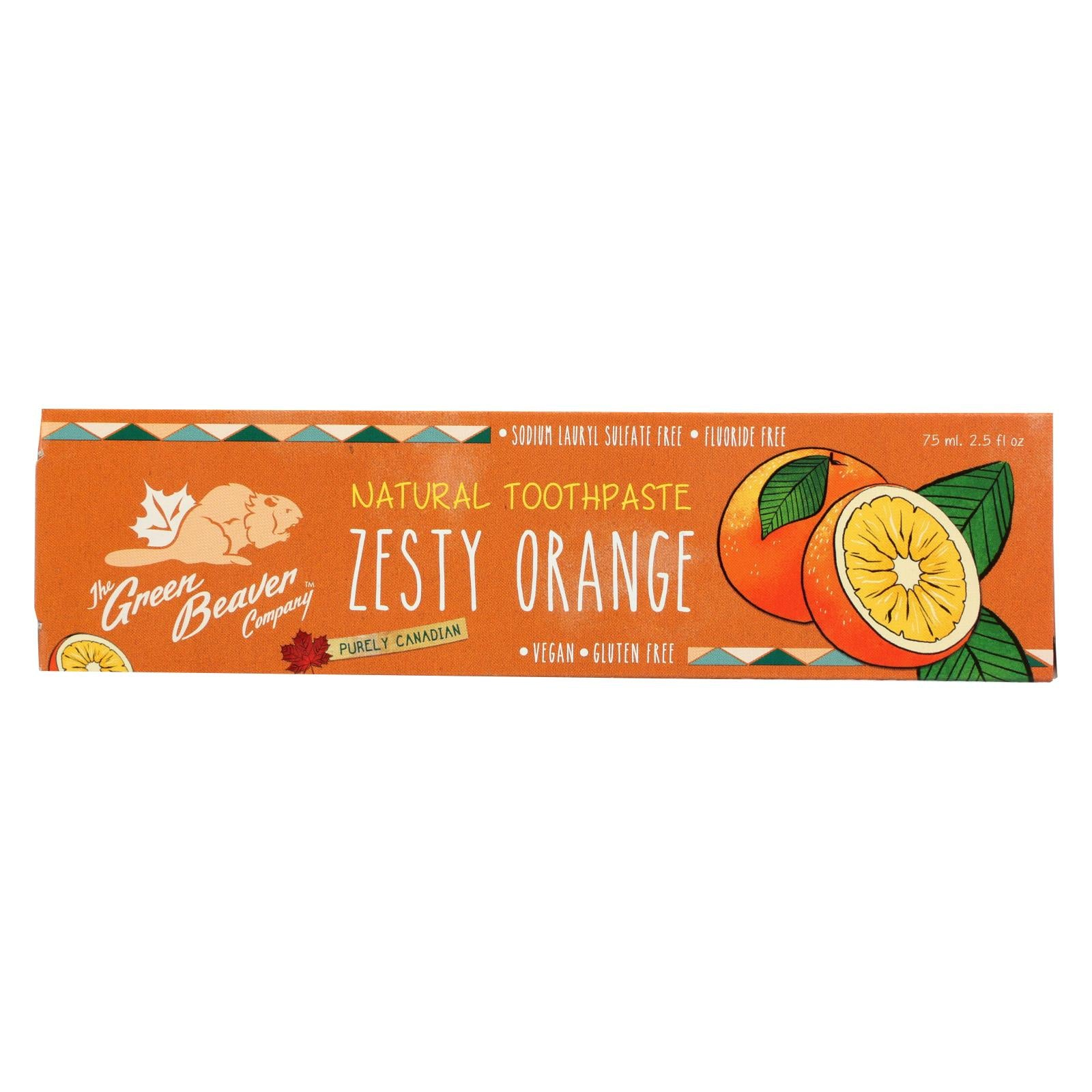 Buy Green Beaver,The Toothpaste - Zesty Orange Toothpaste - Case of 1 - 2.5 fl oz. - Oral Care from Veroeco.com