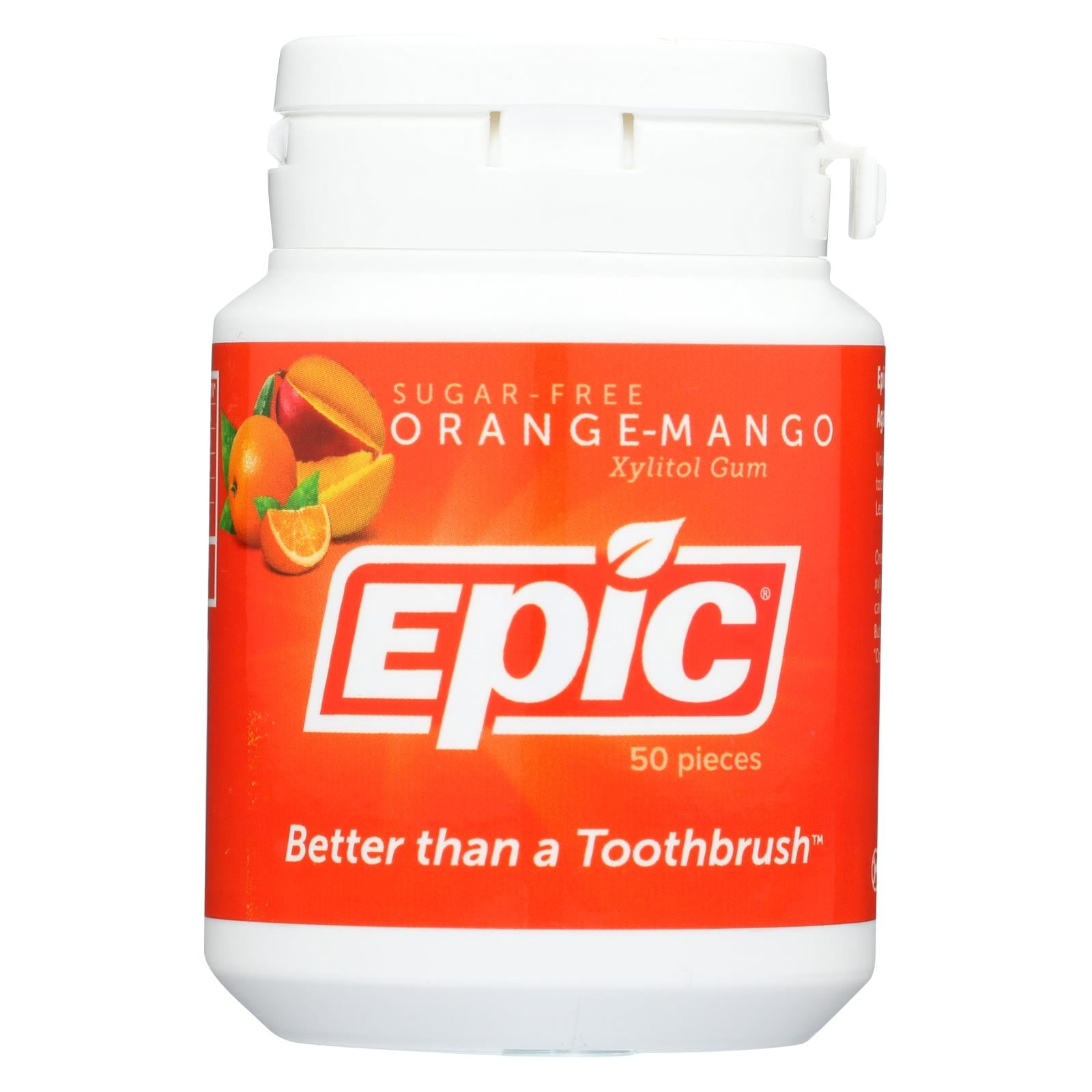 Buy Epic Dental - Gum Xylitol Orange-Mango - 50 CT - Candy and Chewing Gum from Veroeco.com