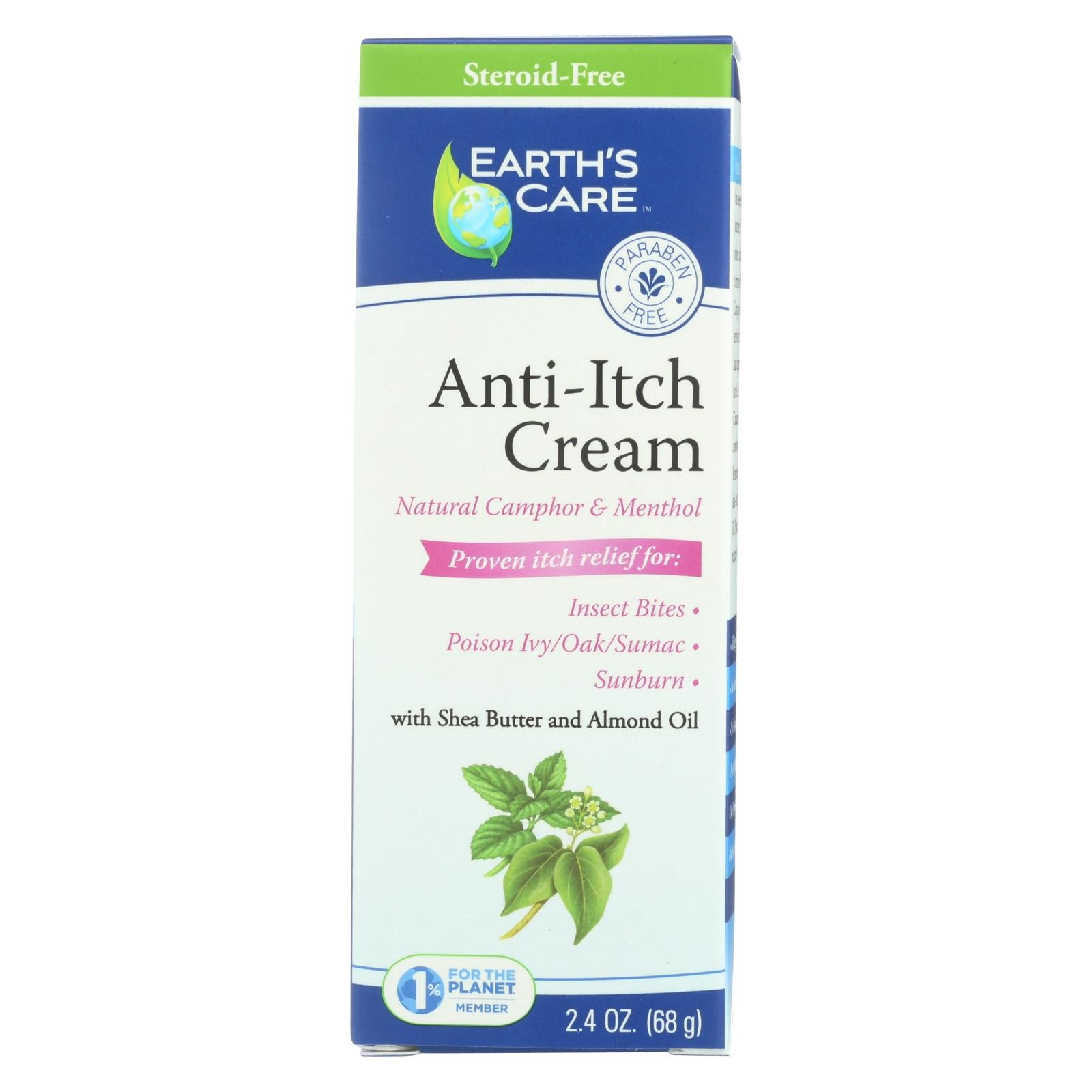 Buy Earth's Care Anti-Itch Cream - 2.4 oz - First Aid from Veroeco.com
