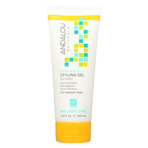 Buy Andalou Naturals Medium Hold Styling Gel Sunflower and Citrus - 6.8 fl oz - Styling Needs from Veroeco.com
