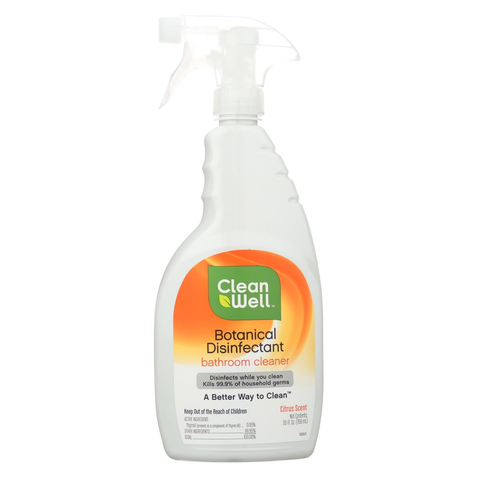 Buy CleanWell Bathroom Disinfectant Cleaner - 26 fl oz - Household Cleaners from Veroeco.com
