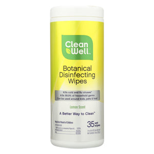 Buy CleanWell Disinfecting Wipes - 35 count - Household Cleaners from Veroeco.com