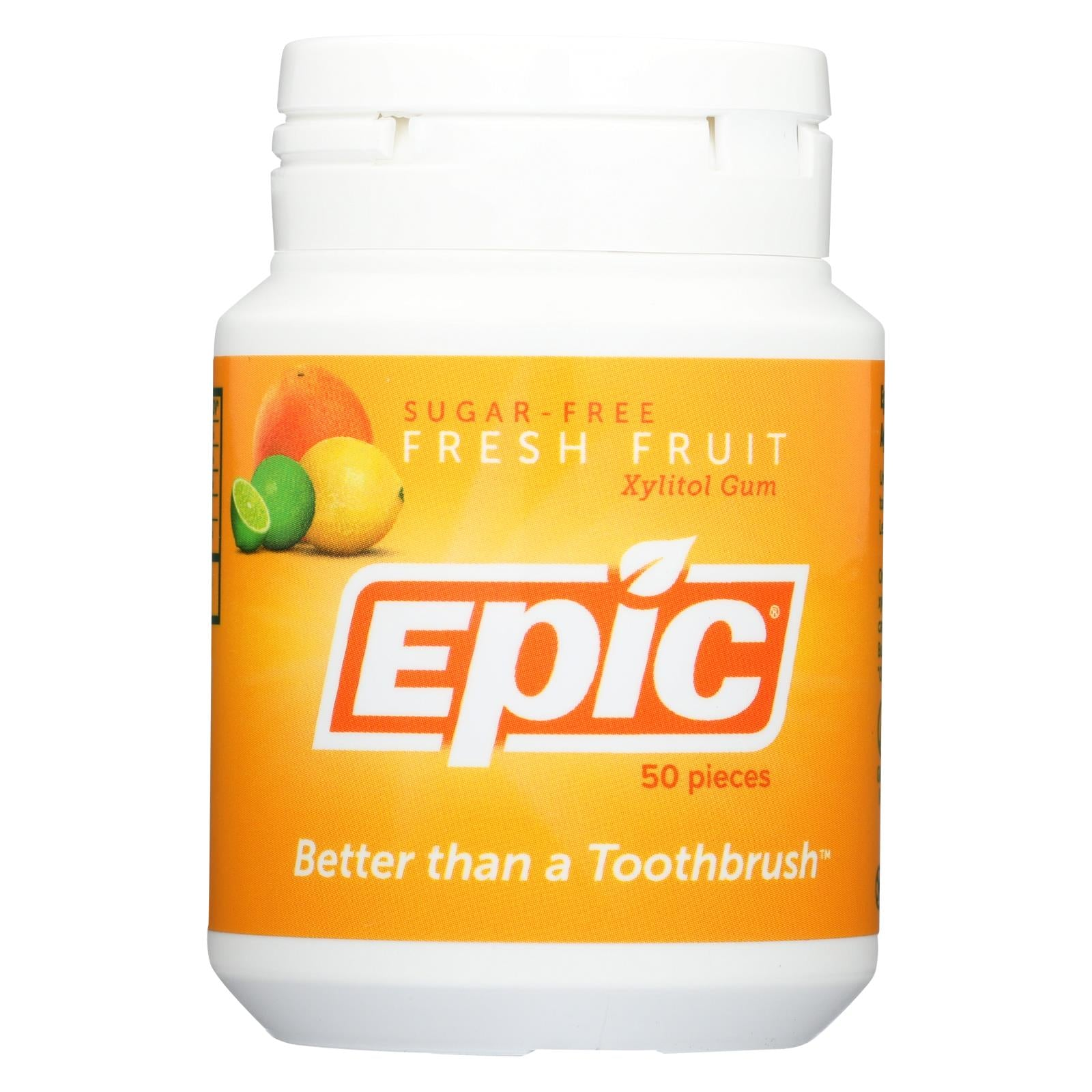 Buy Epic Dental Xylitol Gum - Fresh Fruit - 50 Pieces - Candy and Chewing Gum from Veroeco.com