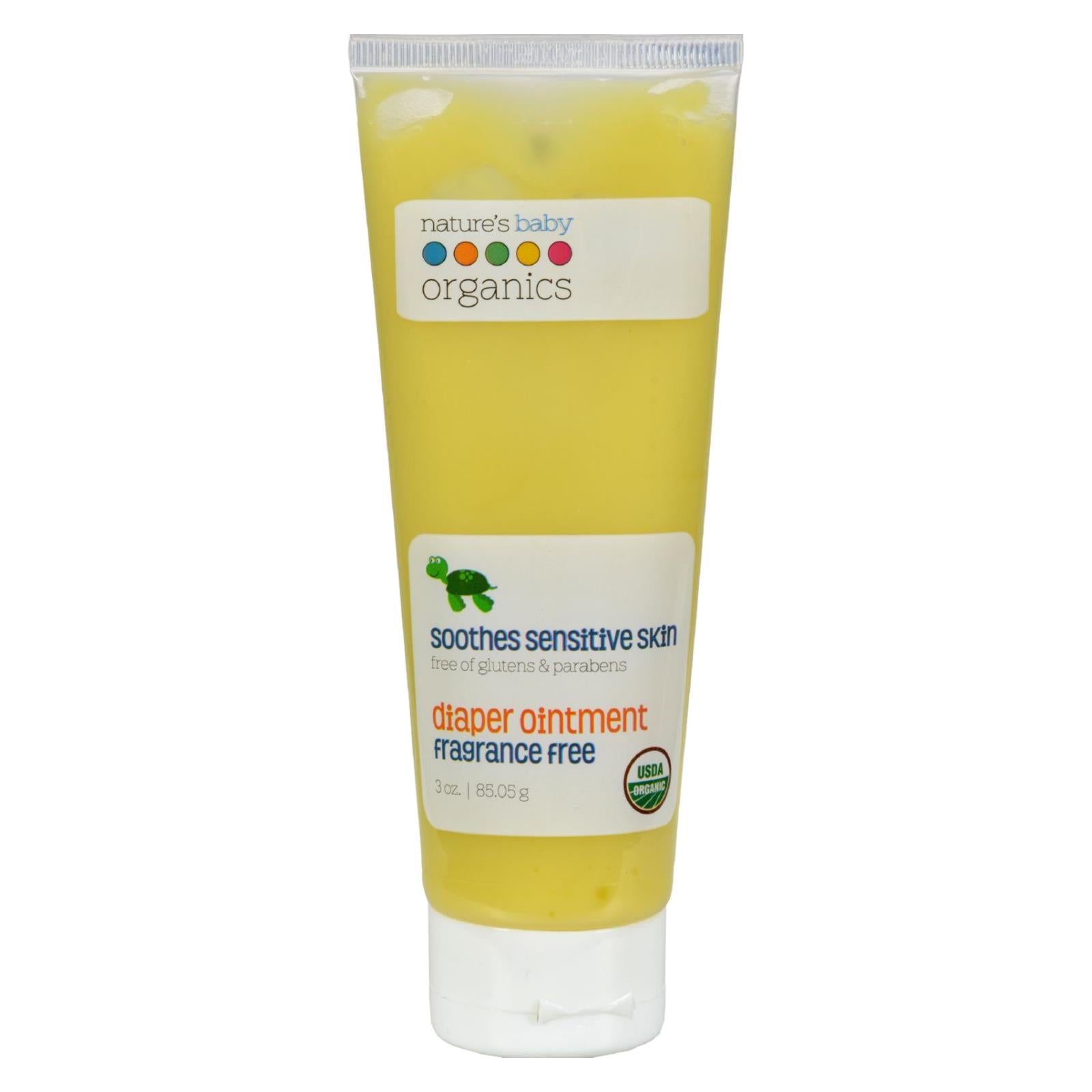 Buy Nature's Baby Organics Diaper Ointment All Natural Fragrance Free - 3 oz - Baby Skin and Sun from Veroeco.com