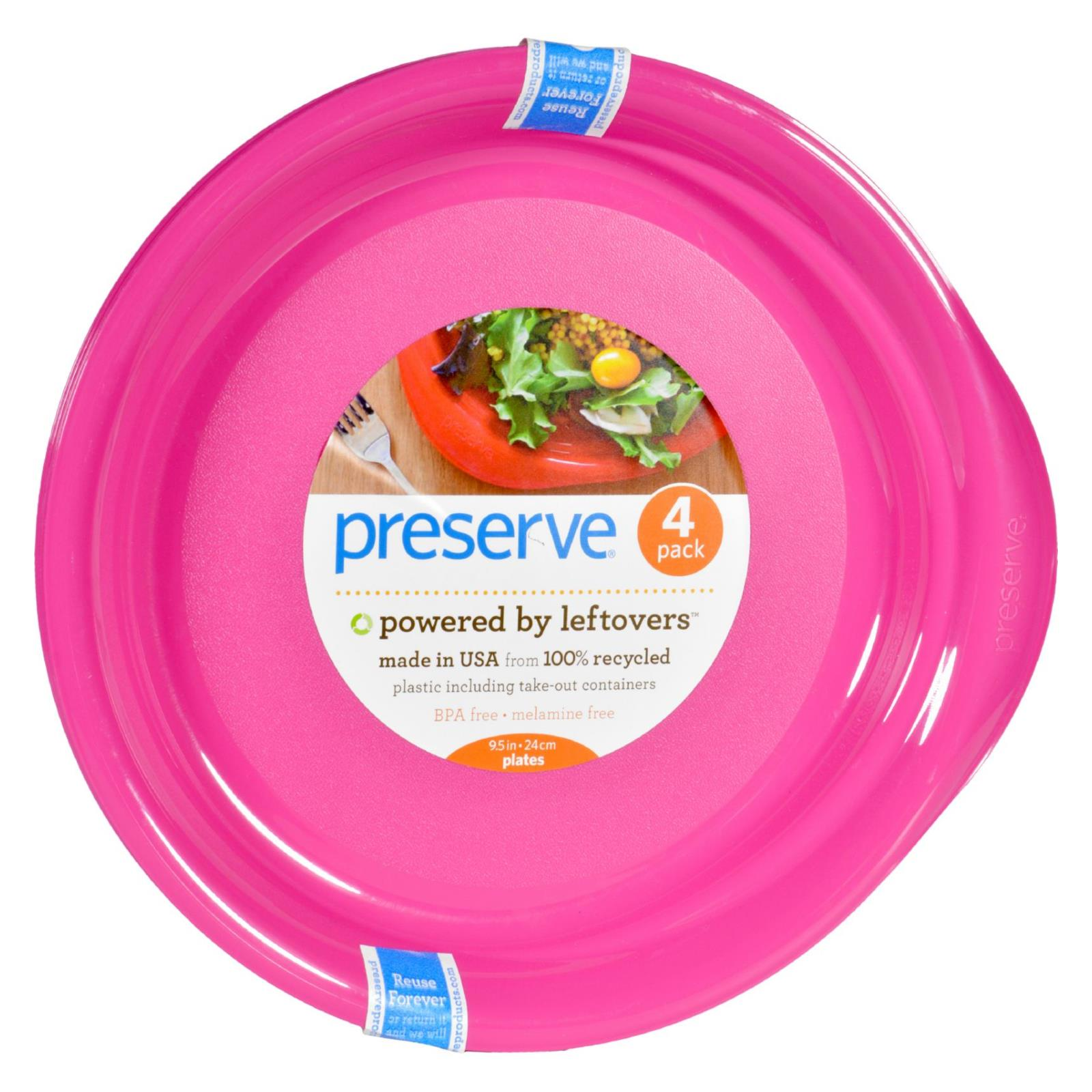 Buy Preserve Everyday Plates - Pink - 4 Pack - 9.5 in - Tableware from Veroeco.com