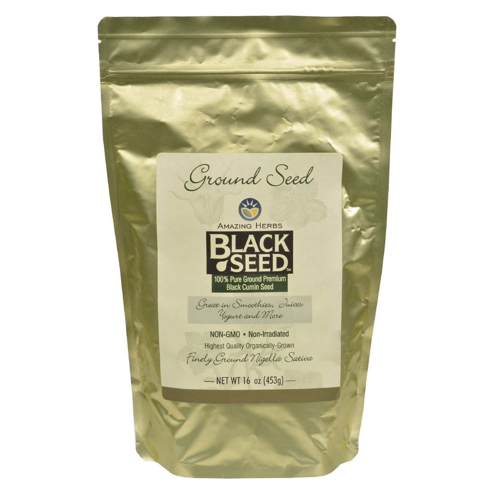Buy Amazing Herbs Black Seed Ground Seed - 16 oz - Fibers and Seeds from Veroeco.com