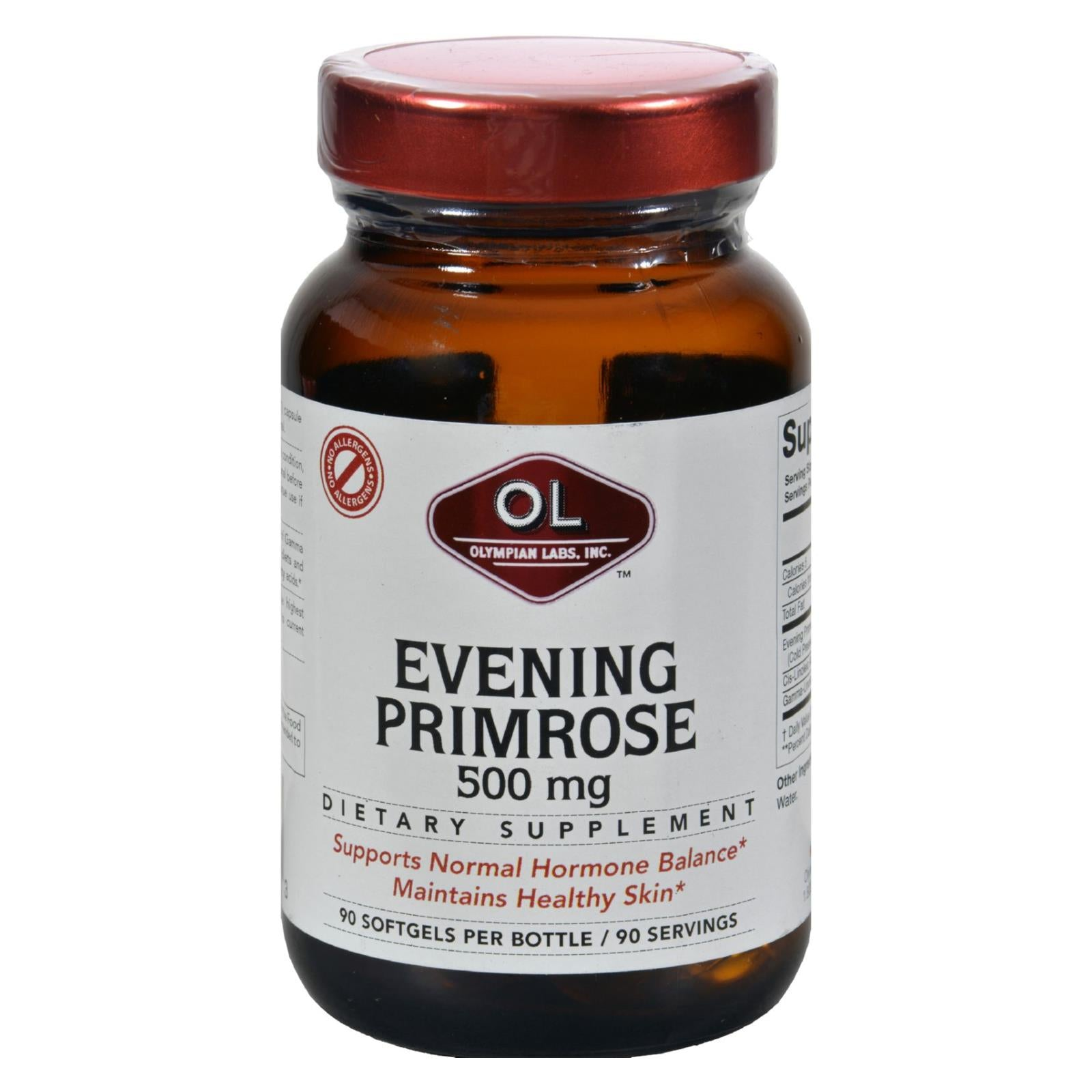 Buy Olympian Labs Evening Primrose Oil - 500 mg - 90 Softgels - Botanical Oils from Veroeco.com
