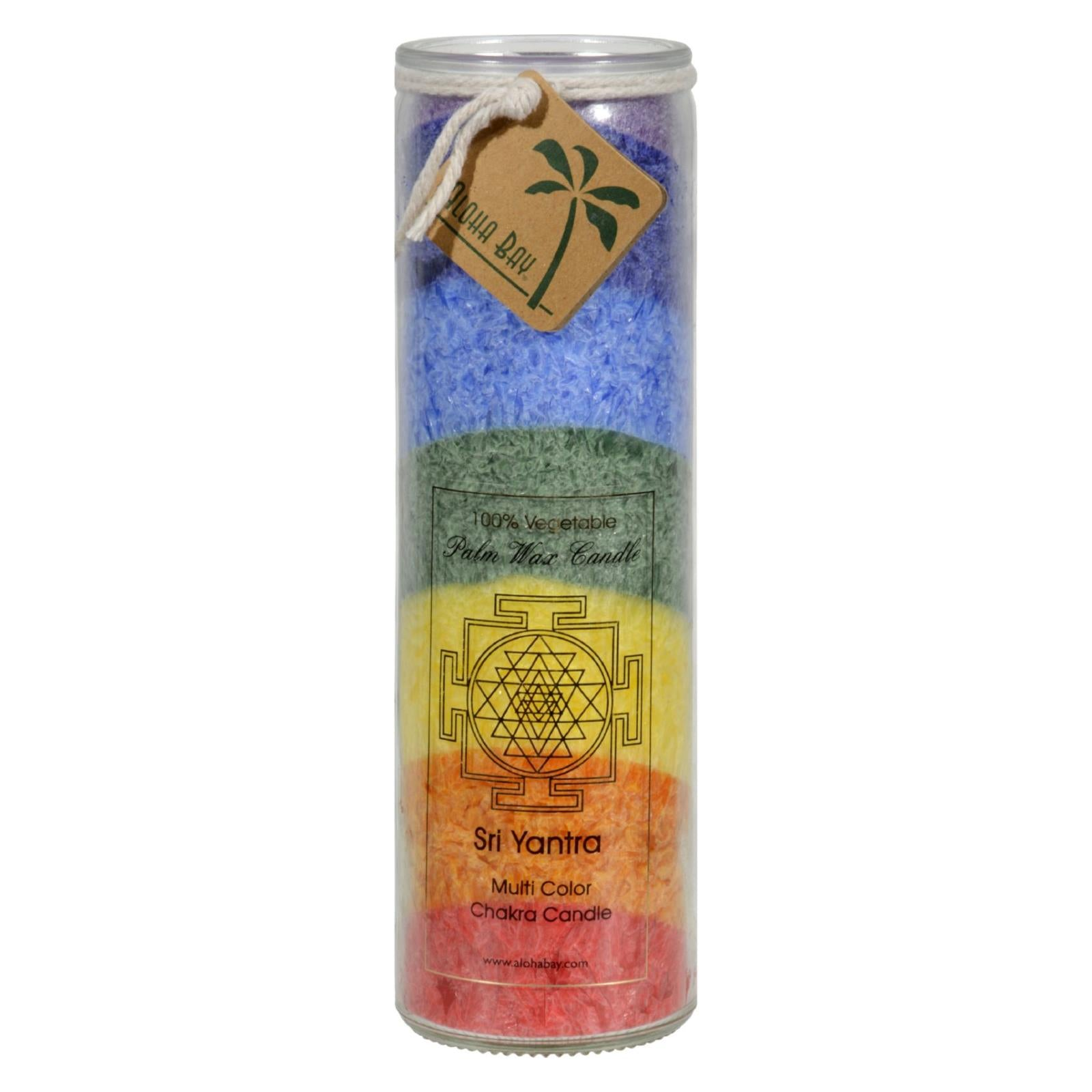Buy Aloha Bay Unscented Chakra Jar Rainbow Sri Yantra 7 Color - 1 Candle - Jar Candles from Veroeco.com
