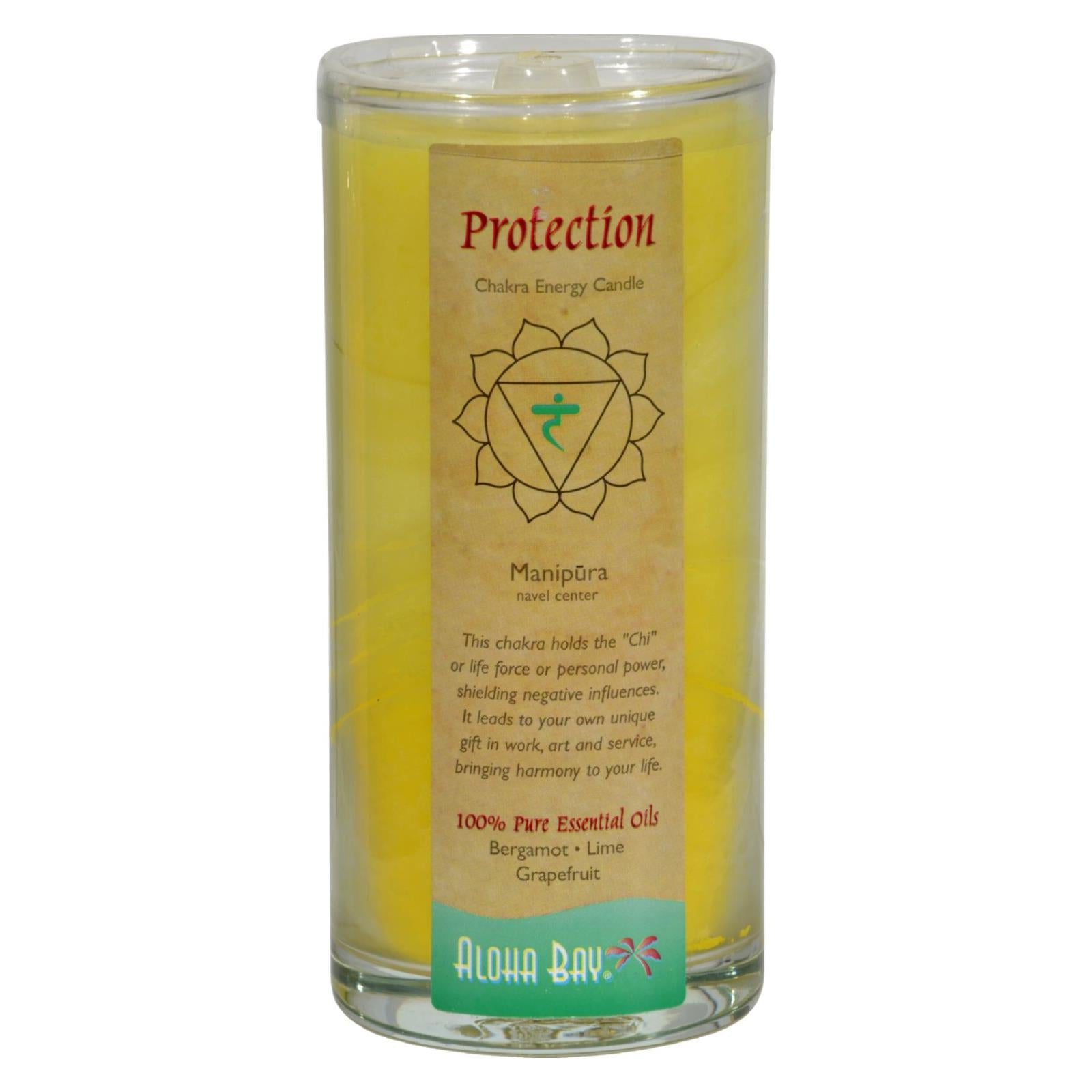 Buy Aloha Bay Chakra Candle Jar Protection - 11 oz - Jar Candles from Veroeco.com