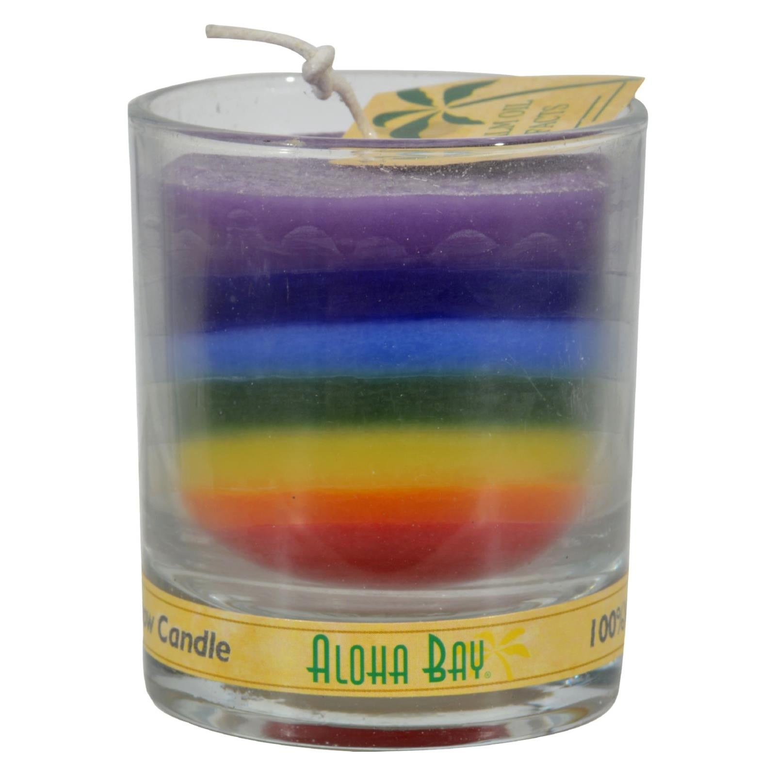 Buy Aloha Bay Votive Jar Candle - Unscented Rainbow - Case of 12 - 2.5 oz - Jar Candles from Veroeco.com