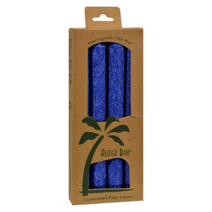 Buy Aloha Bay Palm Tapers Royal Blue - 4 Candles - Taper Candles from Veroeco.com