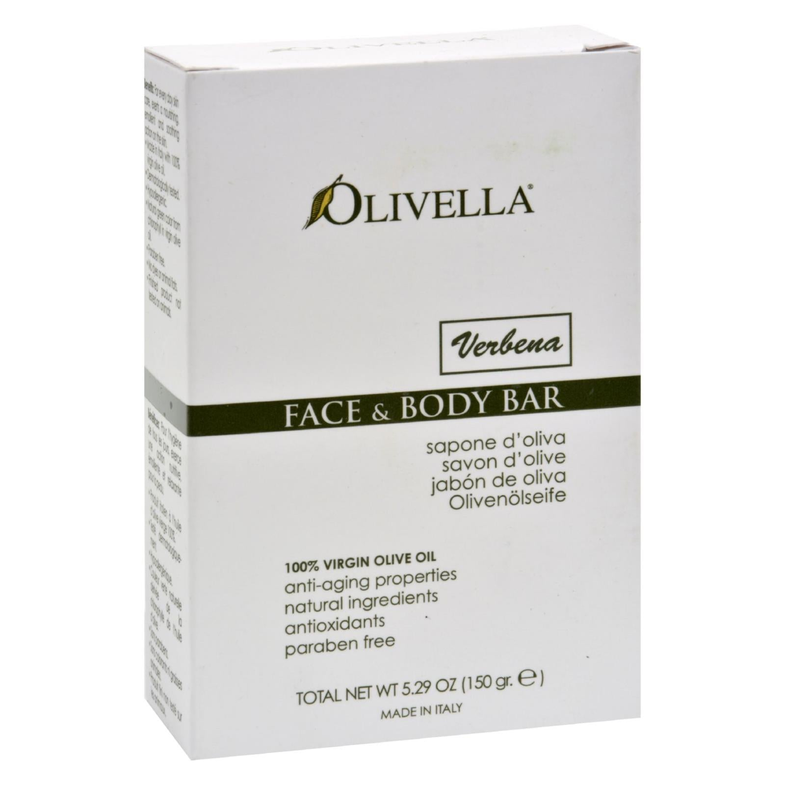 Buy Olivella Face and Body Bar Verbena - 5.29 oz - Cleansers from Veroeco.com