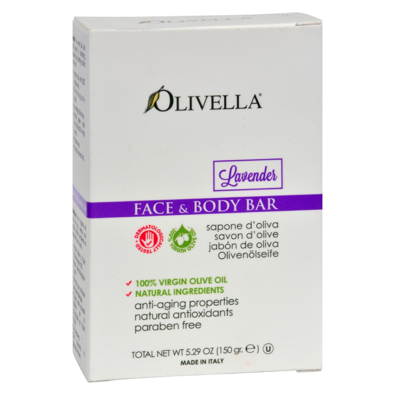 Buy Olivella Face and Body Bar Soap Lavender - 5.29 oz - Cleansers from Veroeco.com