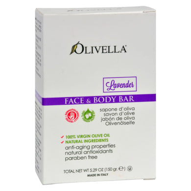 Olivella Face and Body Bar Soap Lavender - 5.29 oz