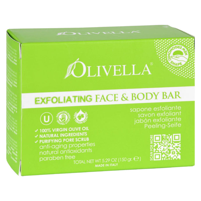 Olivella Bar Soap - Face and Body - Exfoliating - 5.29 oz