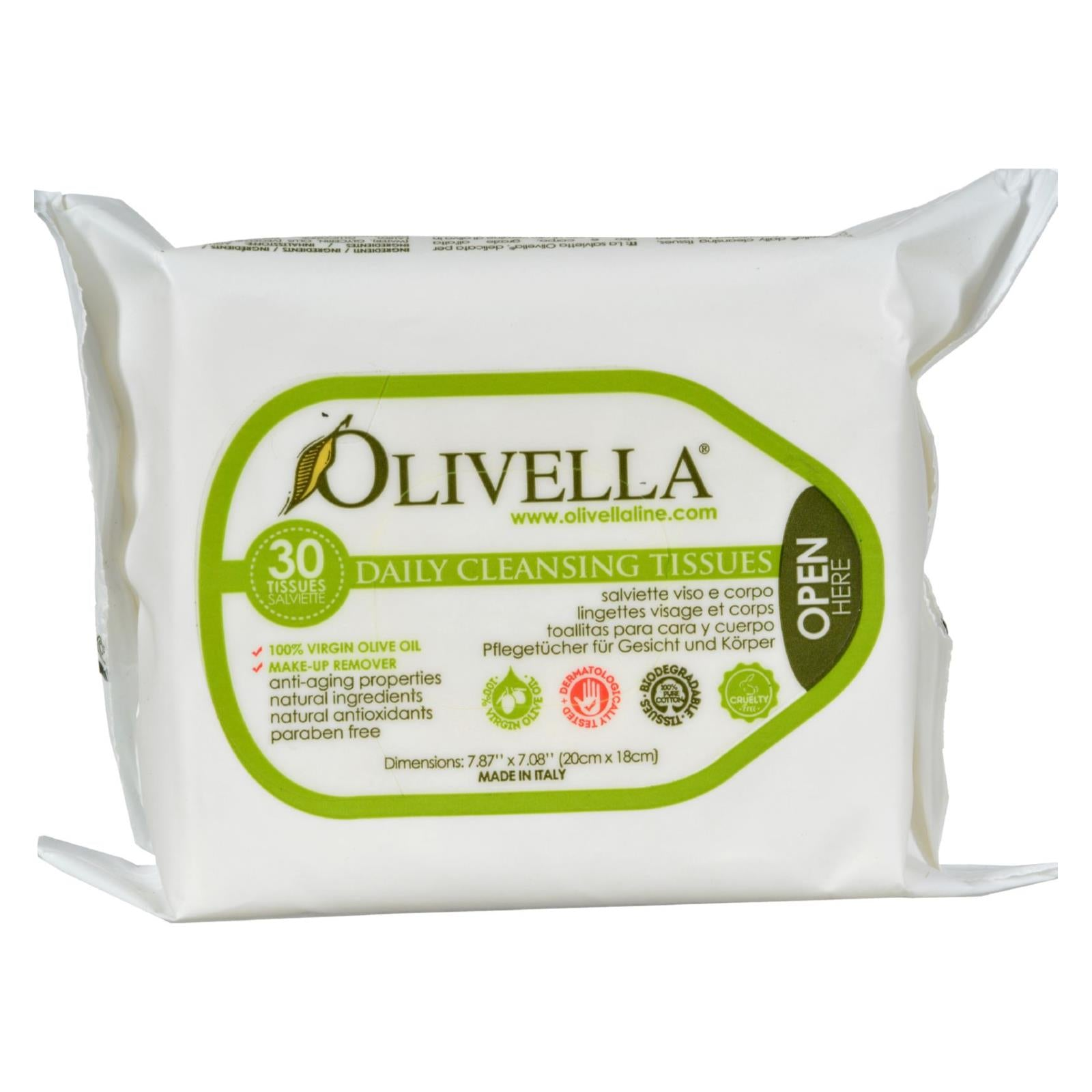 Buy Olivella Daily Facial Cleansing Tissues - 30 Tissues - Cleansers from Veroeco.com
