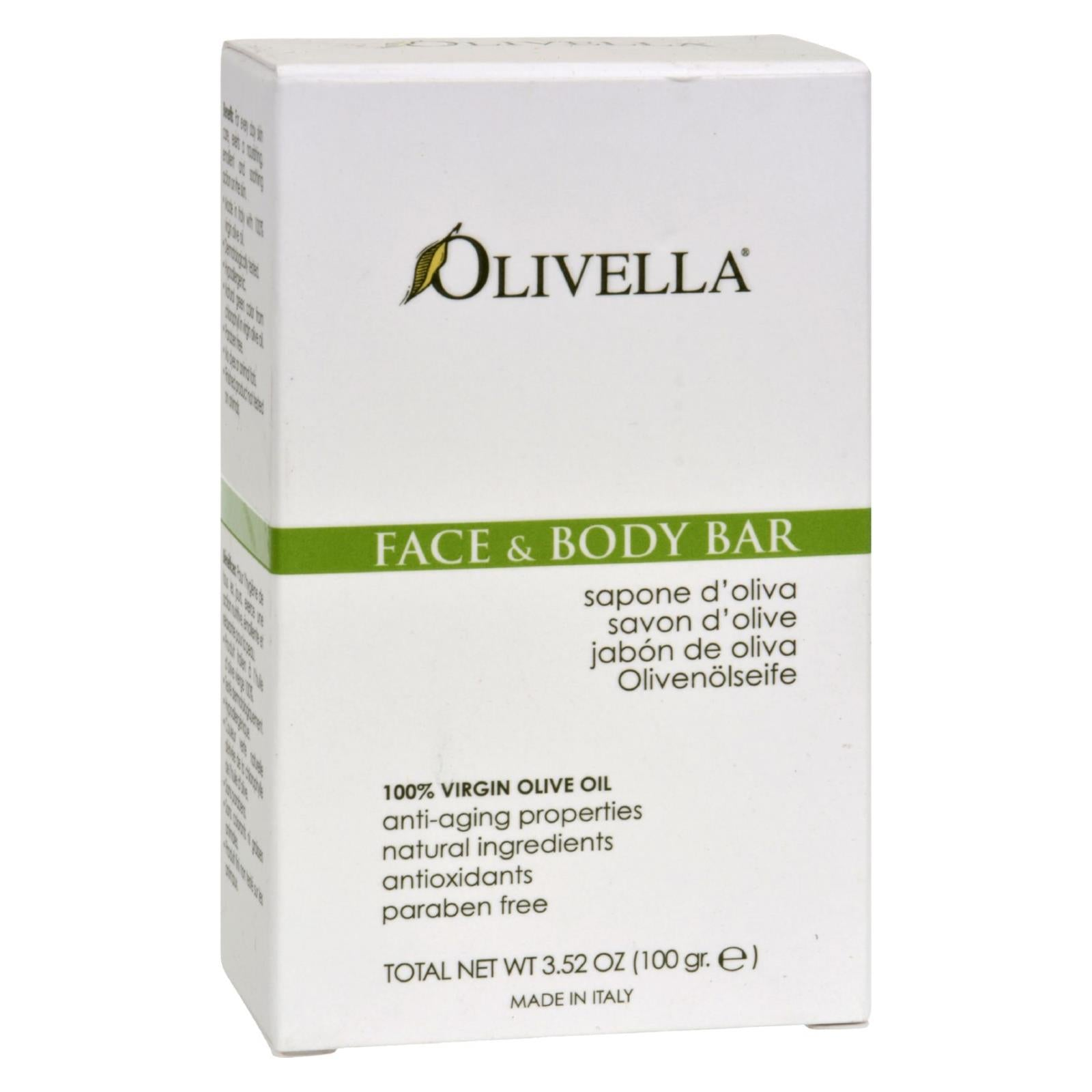Buy Olivella Face and Body Bar - 3.52 oz - Cleansers from Veroeco.com