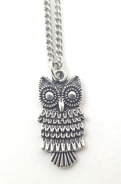 Silver Owl Necklace