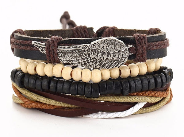 Leather Wing Wristband