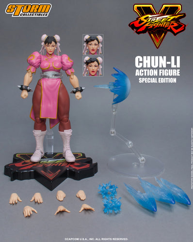 STREET FIGHTER V - CHUN LI - SPECIAL EDITION - Pink Outfit - 1/12 Scale Figure - STORM COLLECTIBLE