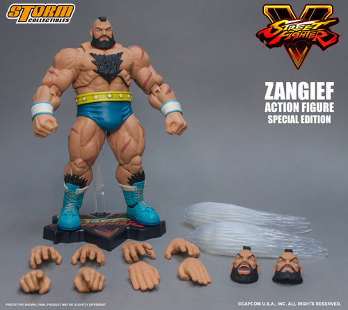 STREET FIGHTER V - ZANGIEF - SPECIAL EDITION - Turquoise Outfit - 1/12 Scale Figure - STORM COLLECTIBLE