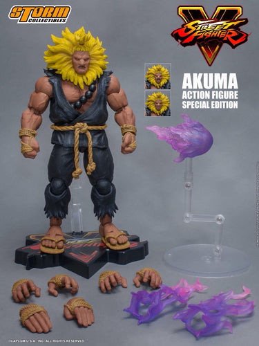 STREET FIGHTER V - AKUMA - SPECIAL EDITION - Yellow Mane 1/12 Scale Figure - STORM COLLECTIBLE