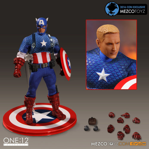 MEZCO - CAPTAIN AMERICA - One:12 Collective Deluxe Version! SDCC Exclusive!