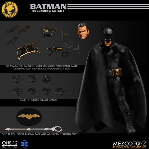 BATMAN: Ascending Knight - BLACK VARIANT - EXCLUSIVE - One:12 Collective Action Figure - MEZCO