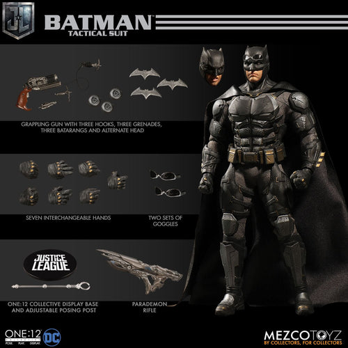 **PRE-ORDER** - BATMAN Tactical Suit - Justice League - ONE:12 Collective - MEZCO