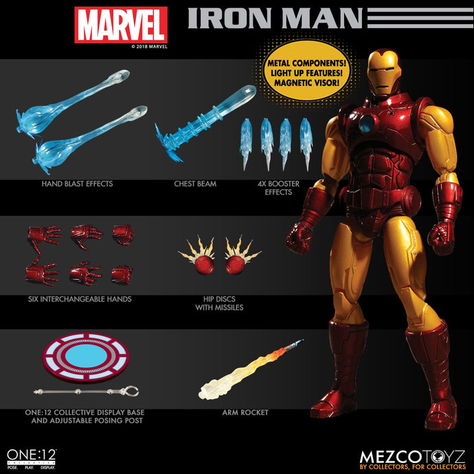 **PRE-ORDER** - IRON MAN  - ONE:12 Collective - MEZCO