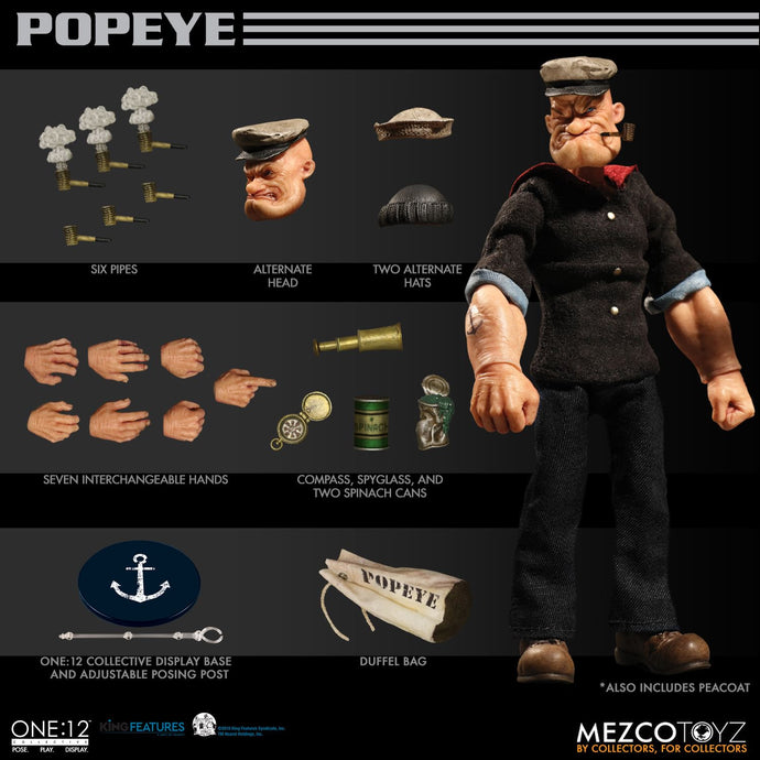 POPEYE - ONE:12 Collective - MEZCO