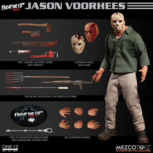 JASON VOORHEES - Friday The 13th PART 3- ONE:12 Collective - MEZCO