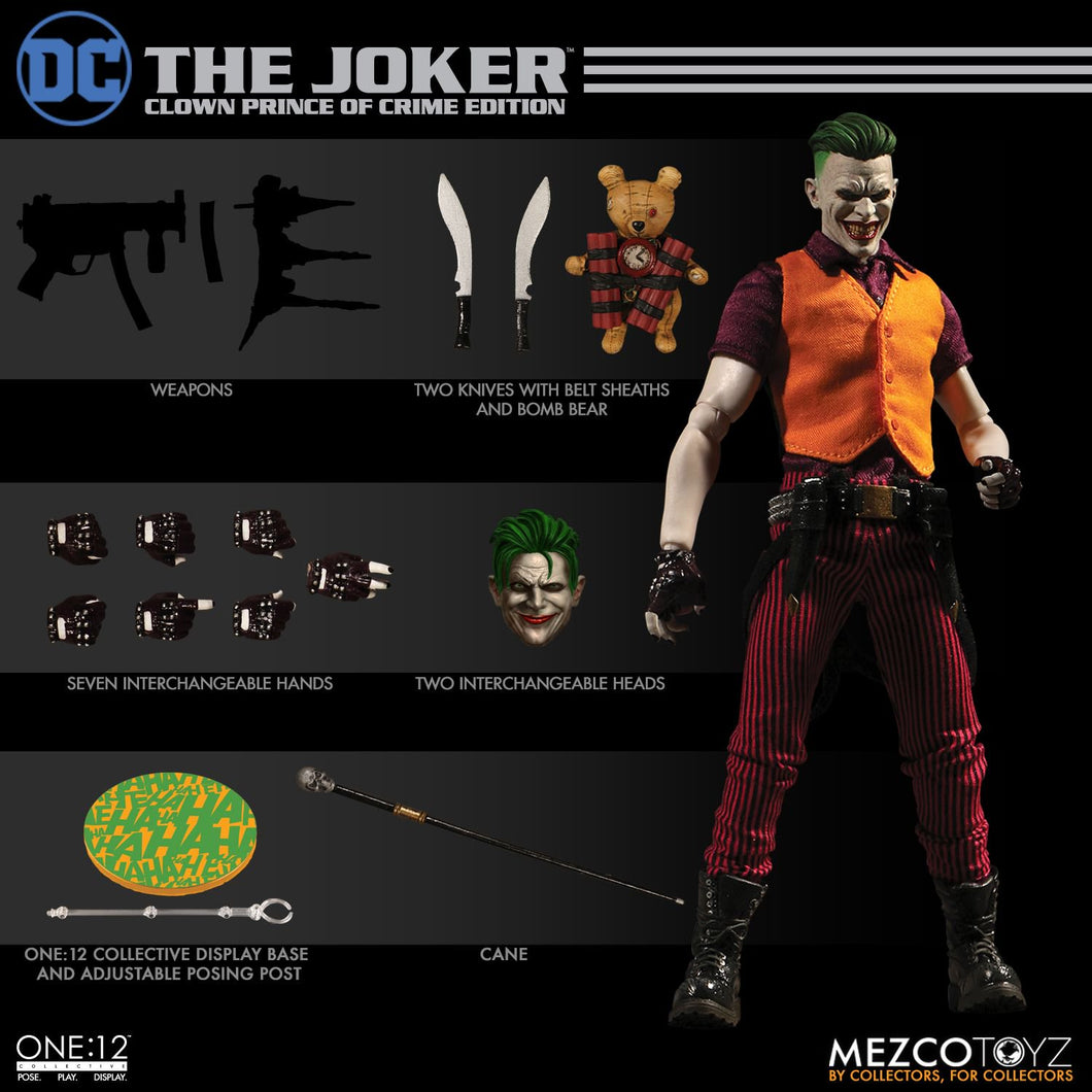 [DENTED BOX] THE JOKER: Clown Prince Of Crime Edition - ONE:12 Collective - MEZCO